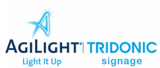 Agilight tridonic signage
